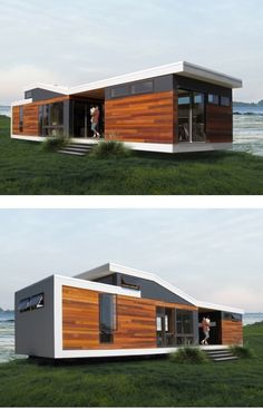 69 Super Ideas For Exterior Shop Design Tiny House Building A Container Home, Container Buildings, Container Architecture, Container House Plans, Tiny House Cabin, Tiny House Design, Modern House Design, Prefab Homes, Modular Homes