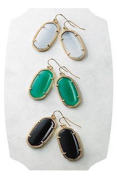 Kendra Scott 'Elle' Boxed Small Oval Earrings