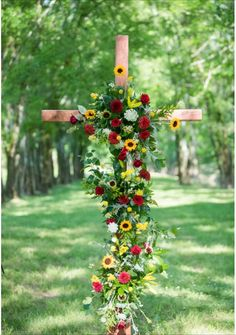 Wedding cross for Christ centered wedding: Venue: Covey Creek, Florals: Creighton Wildflower Design Studio Christ Centered Wedding, Wedding Cross, Red Roof, Vintage Furniture, Wild Flowers, Florals, Studio, Plants, Photography