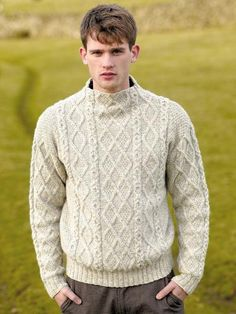 Cumbria Men's Sweater in Rowan British Sheep Breeds DK Undyed. Find this pattern and more knitting inspiration at LoveKnitting. Aran Knitting Patterns, Christmas Knitting Patterns, Knitting Designs, Sheep Breeds, Baby Scarf, Universal Yarn, Knitting Books, Yarn Brands, Winter Collection