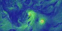 Yesterday's image of Typhoon Chan-Hom, followed by Typhoon Nangka.