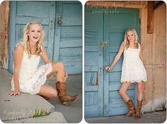 photo's / White sundress with boots