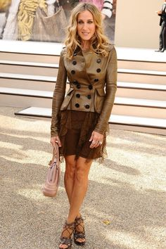 SJP at the Burberry spring/summer 2011 show during London Fashion Week.