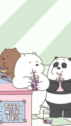 Cute Pastel Wallpaper, Bear Wallpaper, Iphone Background Wallpaper, Bear Images, Bear Pictures, Vanellope Y Ralph, Best Friend Wallpaper, We Bare Bears Wallpapers, Hijab Cartoon