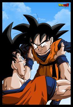 The first time Goten saw his father Goku at the Tenkaichi Budōkai #dbz