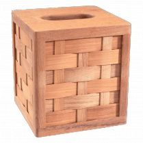 Boutique Teak Tissue Box Cover