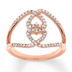 Reflect the colors of autumn with this rose gold heart ring.