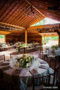 Elegant yet rustic setting in a barn #Newberrybros #Denver #Wedding