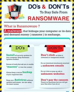 Stay Safe From Ransomware  #Cyberattack #Malware #Ransomware  #Security #Infosec #DataProtection #Hackers #Phishing #Cybercrime