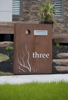 Letterbox by PO Box Designs Post Box, White Led Lights, Reno, House Numbers, House Front, Beautiful Homes, Lettering, Steel, Outdoor Decor