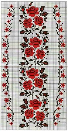 This Pin was discovered by Хри Cross Stitch Borders, Cross Stitch Rose, Cross Stitch Flowers, Cross Stitch Designs, Cross Stitching, Cross Stitch Patterns, Folk Embroidery, Cross Stitch Embroidery, Embroidery Patterns