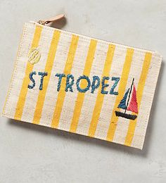 cute striped St Tropez pouch