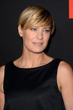 More Pics of Robin Wright Short cut with bangs (15 of 27) - Short Hairstyles Lookbook - StyleBistro