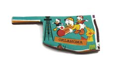 Vintage Oklahoma Disney puzzle piece magnet