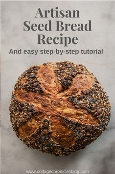 A few simple ingredients, no experience required for most amazing and beautiful bread you've ever made. You will be delighted by how truly easy it is to make this heavenly chewy, crispy crust, no-knead seed bread. Artisan Bread Recipes, Artisan Food, No Knead Bread, Yeast Bread, Bread Rolls, Bread Baking, Food Print, Homemade Breads, Dinner Rolls