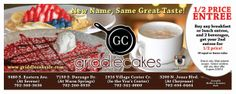 Direct Mail Design for Griddlecakes Las Vegas