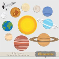 Solar System clip art images planet clip art by ClementineDigitals Teaching Science, Science For Kids, Earth Science, Science Activities, Science Projects, School Projects, Science Art, Solar System Images, Solar System For Kids