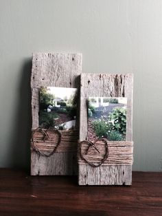 Barn wood picture frames by Sweet Serendipity...Discover Something Happy!