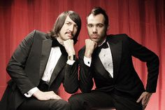 The Death From Above 1979 lads looking dapper.