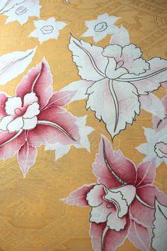 Vintage Kimono Silk Fabric Cream and Pink by thelastwhitecat, $14.54