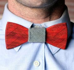 Trend: the wooden bow tie