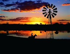 Beautiful Sunset in the Outback Australia