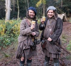 Behind the Scenes #potd Even highlanders (Angus & Rupert) need a latte break Matt Roberts twitter