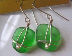 Vibrant Green Authentic Lake Superior Beach Glass by beachglass46, $21.00