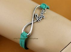 Infinity hope bracelet in antique by ThePrettyJewelryShow on Etsy, $0.99