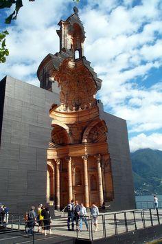 full scale sectional architectural model by Mario Botta of Borromini's San Carlo Church, Lugano, Switzerland. maquetta, modulo, maquette