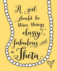 classy fabulous theta