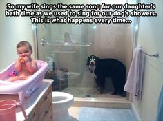Omgggg....I sing songs for our dogs!! I see this happening...  @Adrian Leal @Jess Sherrick @Bethany Moss