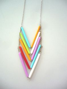 Chevron necklace in many colours by stavroula on Etsy, $22.00