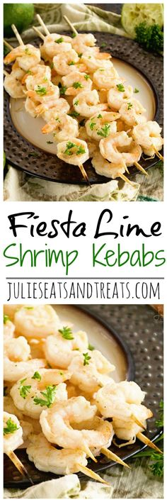 Fiesta Lime Shrimp Kebabs ~ Quick & Easy Recipe! Shrimp Kebabs Marinated in Lime Juice and Seasonings then Grilled to Perfect! ~ http://www.julieseatsandtreats.com