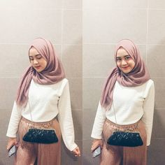Muslim Fashion, Hijab Fashion, Korean Fashion, Fashion Outfits, Womens Fashion, Casual Hijab Outfit, Ootd Hijab, Korean Best Friends, Hijab Tutorial