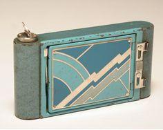 Kodak folding Art Deco camera petite, 1929.