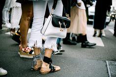 Ballerinas Miu Miu bag and JW Anderson Gallery 1 of 63 Vogue Mexico Miu Miu Handbags, Fashion Handbags, St Style, Mode Style, Jw Anderson Bag, Ballet Flats Outfit, Hermes, High Class Fashion, Manolo Blahnik Heels