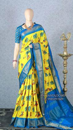 Ikkat Silk Sarees, Bollywood Saree, Pink Saree, Half Saree, Saree Wedding, Sari, Fashion, Saree, Moda