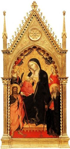 Agnolo Gaddi - Madonna con Bambino e Santi - c. 1387-1391 - tempera e oro su tavola - Galleria dell'Accademia, Firenze