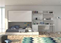 Habitación juvenil con cama abarible y cama nido