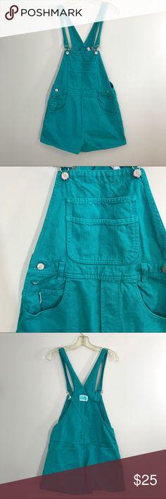 Vintage 1990s Teal Bongo Jean Shortalls L EUC. Teal Jean shortfalls. Size Large. Length 33 Waist 30 Inseam 2 Urban Outfitters Jeans Overalls