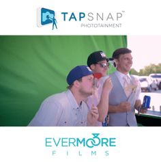 Big green screen + photo props + digital animation = Tap Snap fun! | www.EvermooreFilms.com