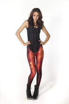 Lava Leggings by Black Milk Clothing