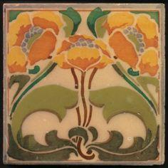 TH2918-Rare-Marsden-Art-Nouveau-Stencilled-Tile-c-1910