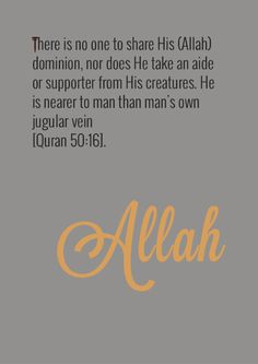 Allah, the lord of the heavens and the earth