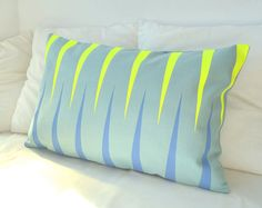 pillow with neon details