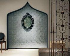 Wallpaper grossy silver floral pattern by 5m  SW7305