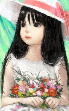 'Flower Girl' Reminds me of Huldah!!