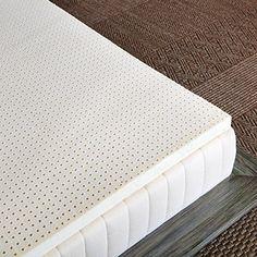 "Amazon.com: Pure Green 100% Natural Latex Mattress Topper - Soft - 2"" Full Size: Home & Kitchen"