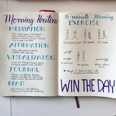 ade a morning routine page in my bullet journal April spread! I really like it, with mistakes and all. Can you find all 🙈📖🖋☀️☕️ Bullet Journal Workout, Fitness Journal, Bullet Journal Inspiration, Journal Prompts, Journal Pages, Journal Ideas, Journal Layout, Writing Prompts, 5am Club
